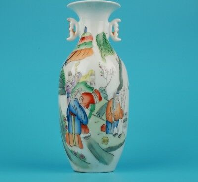 Vintage Chinese Porcelain Vases Old Hand-Painted Official Home Decor Gift Collec
