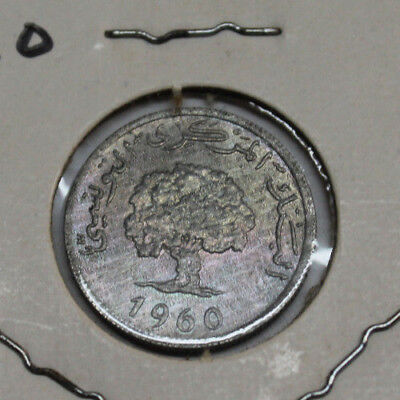 1960 TUNISIA 1 MILLIEME Great condition with clear details and full rims