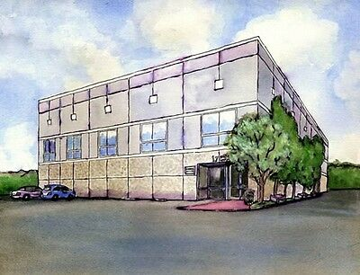 The Office Pam's Dunder Mifflin Building Painting Photo Prop Replica