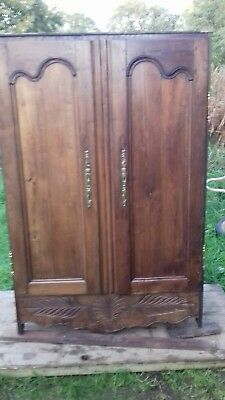 French Antique Early 19Thc Small Bespoke Armoire From Amiens As Found