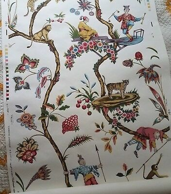 Scalamandre Chinoise Exotique Wallpaper Partial Roll 13 ft VTG Chinoiserie #1