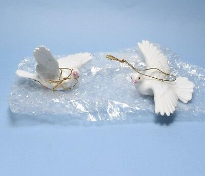 4x Home interior figurines porcelain doves #5723 ornaments