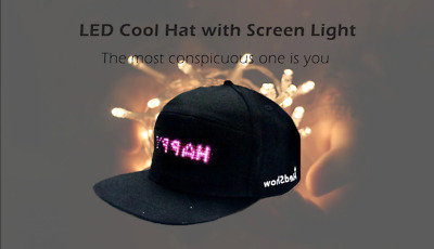 Cool Hat LED controlled Smartphone with Screen Light Waterproof Free Shipping