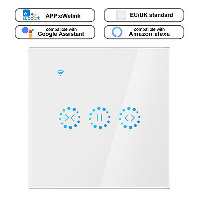WiFi Electrical Blinds Switch Touch Curtain Switch 2200W for Alexa / Google Home
