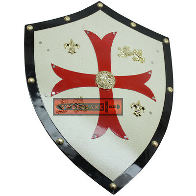 Templar Knights Shield Medieval Royal Red Cross Crusader Swiss Knight Freemason