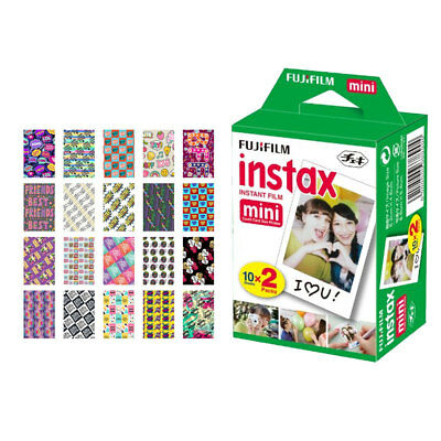 Fujifilm instax mini Instant Film (20 Exposures) + 20 BFF Sticker Frames