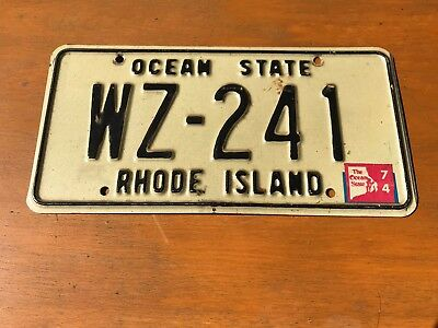 Vintage (1970's) Rhode Island License Plate- Great Condition