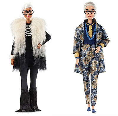 Iris Apfel BARBIE DOLLS Set of Two Gift Set FWJ27 and FWJ28 MINT in Box 2018 New
