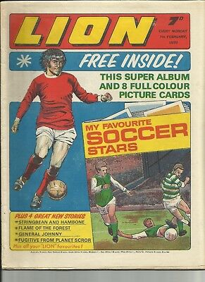 LION COMIC ISSUE 7th FEB 1970 WITH COMPLETE FREE GIFT -EXCELLENT CONDITION