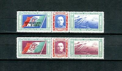 Kingdom of Italy 1933   Triptych I-NANN pair of airmail stamps