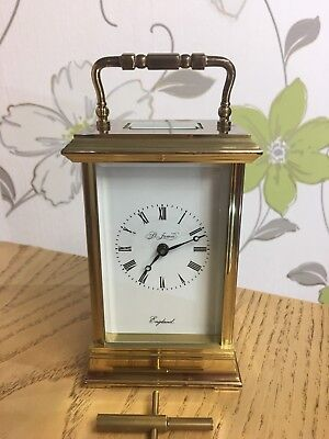St James Vintage English 8 Day Timepiece Brass Carriage Clock