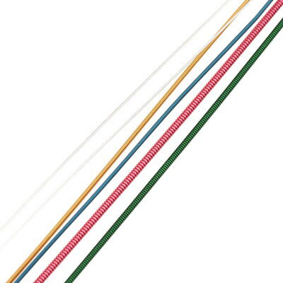 Colorful 1-6 E B G D A E Rainbow Colorful Strings Set for Acoustic Guitar QI