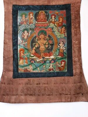 Antique Tibetan Thangka Buddist Painting