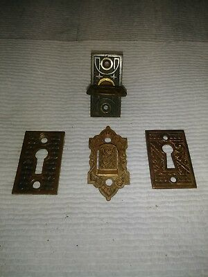 Victorian And Eastlake Antique Brass Hardware Assorted