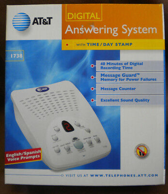 NEW AT&T 1738 Digital Answering System English/Spanish; BOX STILL SEALED