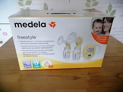 medela freestyle double electric breast pump hardly used