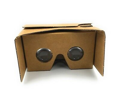 "Google Cardboard Virtual Reality Glasses VR 3D Headset For Up To 5"" Smartphone"