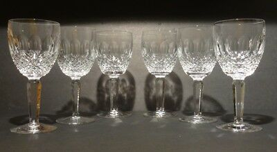 """*VINTAGE* Waterford Crystal COLLEEN TALL (1986-) Set of 6 Sherry Wine 5 1/4"""""""