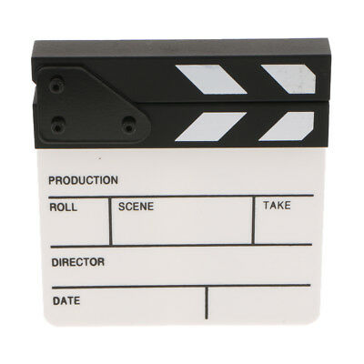 Acrylic Director Clapboard for Movie Advertisement Film Clap Board Props
