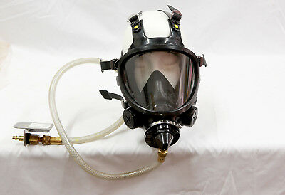 3M 7800S Full Face Respirator, with air feed hosed and connector, used good