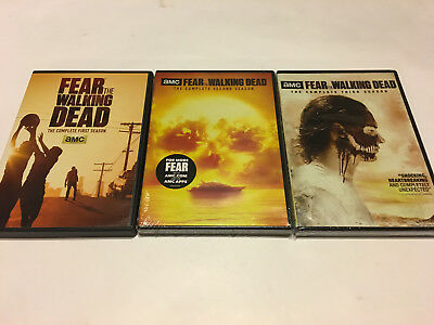 Fear The Walking Dead  Dvd Lot Set Volumes 1 2 3 Complete Series  Authentic Usa