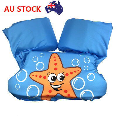 Kids Floaties Adjustable Swim Vest Toddlers Pool Floats Buoyancy Trainer 2-6T