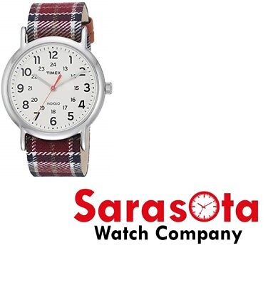 Timex TI2R422 Weekender Multicolor Band 38mm White Dial Women's Watch