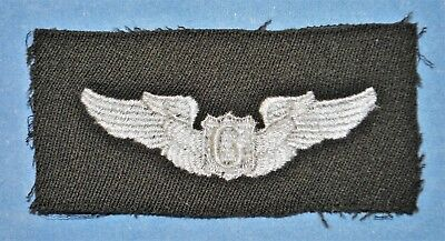 WWII Glider Pilot Wings Insignia Embroidered on Black Cloth