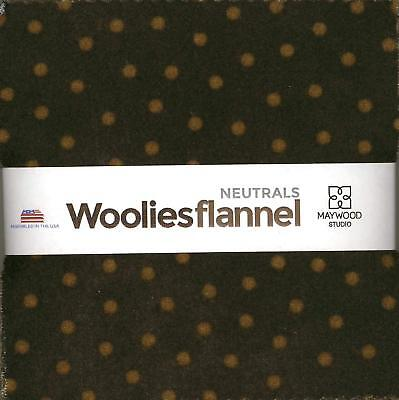 Bonnie Sullivan Woolies Flannel Neutrals Charm Pack 42 5-inch Squares Maywood St