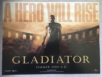 Gladiator Cinema Small Quad Poster (Russell Crowe)