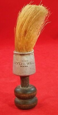 RARE early 1900's Antique Mayd-Well Shaving Shave Brush aluminum vintage old