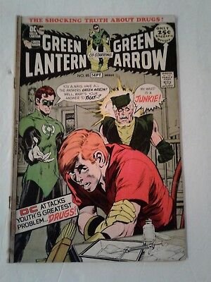 Green Lantern 85 With Green Arrow  Dc Comics 1971  Gd Vg