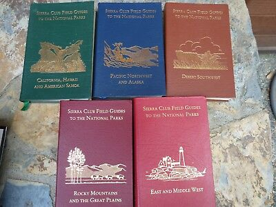 Easton Press SIERRA CLUB FIELD GUIDES TO THE NATIONAL PARKS in 5 vols