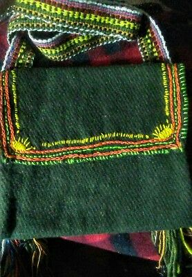 Sash Wool Bag Reenactor F&I AWI Native Mountain Man tobacco Pouch Embroidery