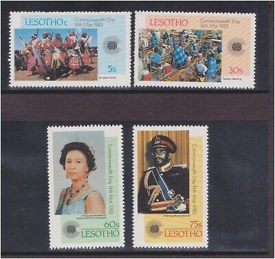 (Q25-21) 1983 Lesotho 4stamps commonwealth collection MUH (21U)