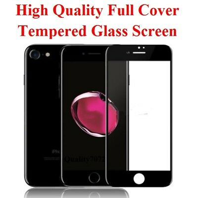 2 X iPhone 7 iPhone 8 Tempered Glass Screen Protector Full Cover Clear HD