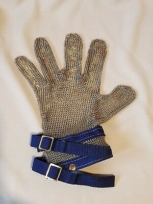 Single butted steel chainmail glove-left or right handed!