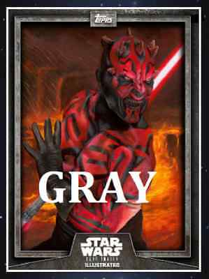 Topps Star Wars Card Trader Illustrated Cti S6 Wave 2 Darth Maul Gray