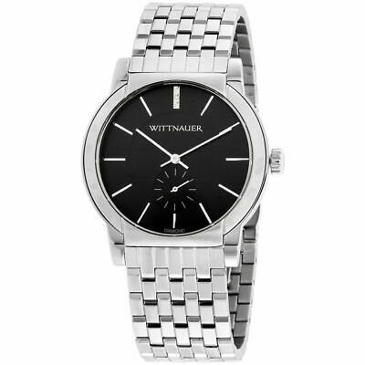 Wittnauer Men's Diamond Accent Black Stainless Watch WN3067 Designed by Bulova