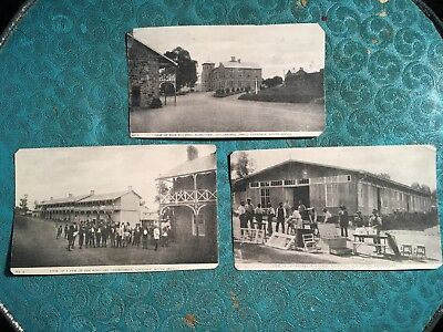 3 Clipped Printed RPPC: Lovedale, South Africa, Missionary Apprentices
