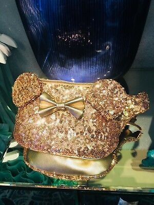 New Disney Parks Exclusive Loungefly Rose Gold Minnie Mouse Belt Bag