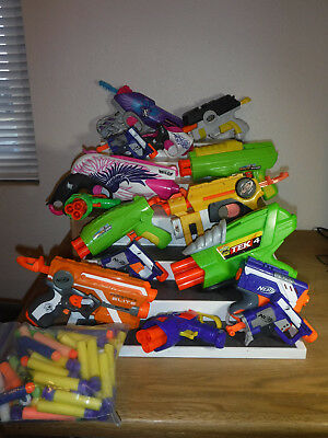 Nerf Guns(Used) Lot of 15 Plus Extra's