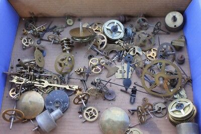 Steampunk Lot of Vintage Clock Movement Parts Gears Wheels