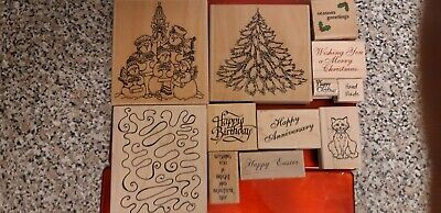 23 assorted rubber stamps