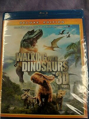 New Walking With Dinosaurs 3D/2D Blu Ray Dvd Digital 2 Disc Set Deluxe Edition
