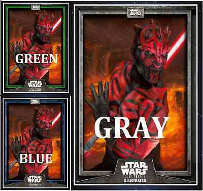 Topps Star Wars Card Trader Illustrated Cti S6 Wave 2 Darth Maul Green Blue Gray