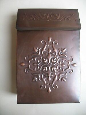 Vintage Decorative Metal Mailbox with Copper Bronze Finish Wall Mount