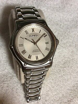 Men's Ebel 1911 Automatic Chronometer Silver White Stainless Steel Watch