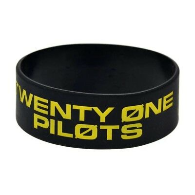 Twenty One 21 Pilots Trench the Bandito Tour Rubber Bracelet Black Yellow