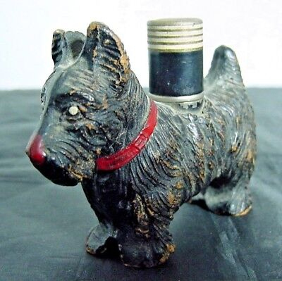Vintage Scotty Dog Strikalite Ltd. Inc. USA Cigarette Lighter with Original Cap